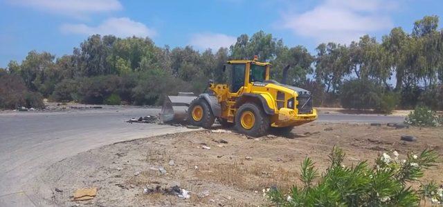 עצוב: דחפורים הרסו את מגרש ההחלקה באשדוד