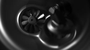 מבט קרוב למגדש טורבו מאוד מהיר המשרת את מנוע ה-1.2 ליטר החדש של פיז'ו-סיטרואן