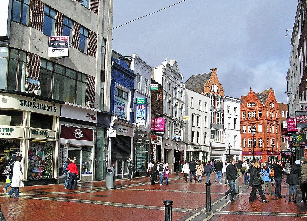 רחוב גרפטון בדבלין ייחסם לתנועת רכב ויהפוך כולו למדרחוב