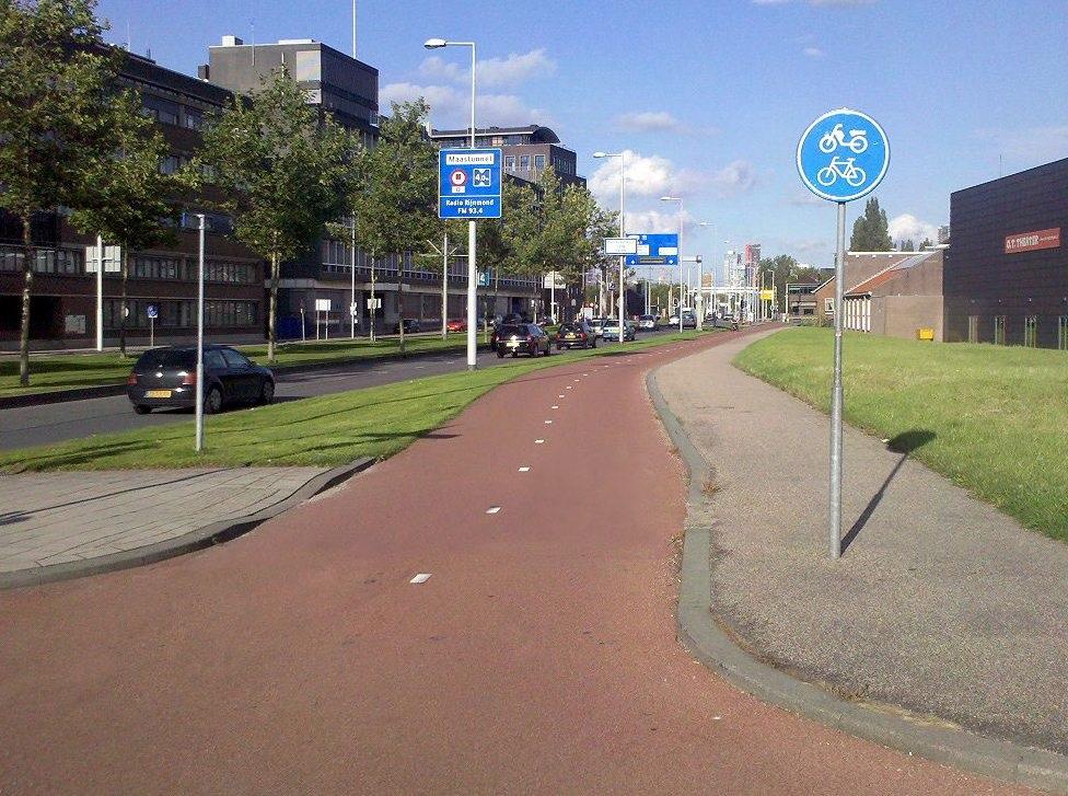 שביל אופניים ברוטרדם הולנד