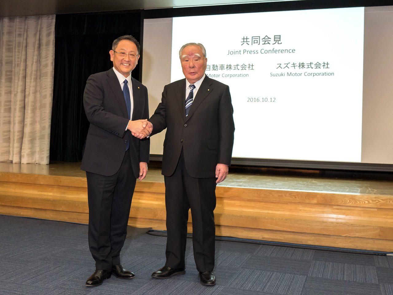 אקיו טויוטדה ואוסמו סוזוקי מכריזים על שתפ 0044