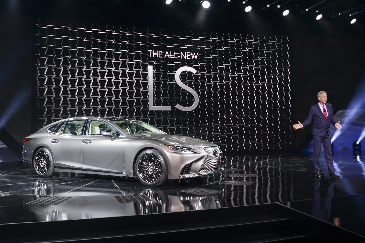 The Lexus LS500 unveiled by Jeff Bracken, Group Vice President and GM